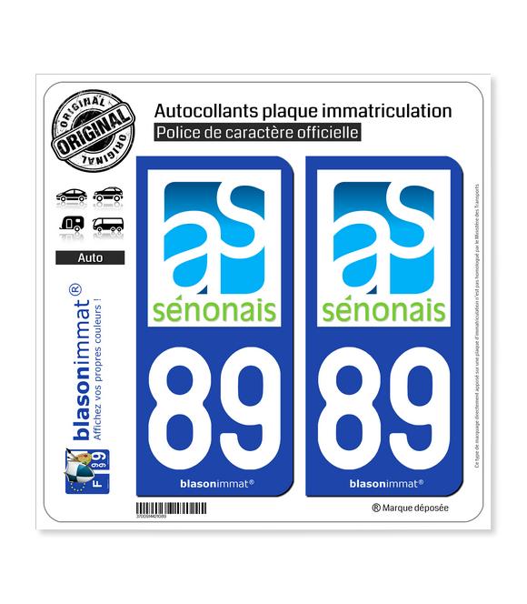89 Sens - Agglo | Autocollant plaque immatriculation