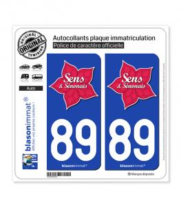 89 Sens - Tourisme | Autocollant plaque immatriculation