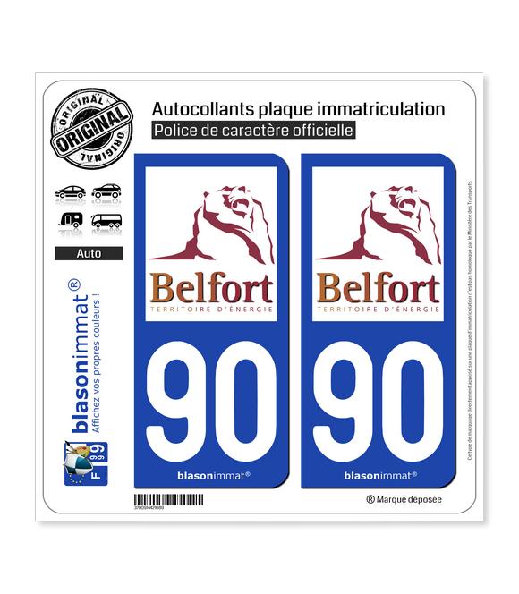 90 Territoire de Belfort - Tourisme | Autocollant plaque immatriculation