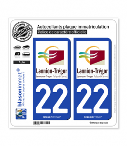 22 Lannion - Agglo | Autocollant plaque immatriculation