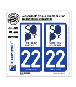 22 Saint-Quay-Portrieux - Ville | Autocollant plaque immatriculation