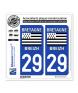 29 Bretagne - LogoType | Autocollant plaque immatriculation