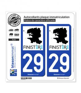 29 Finistère - Tourisme | Autocollant plaque immatriculation