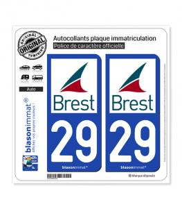 29 Brest - Ville | Autocollant plaque immatriculation
