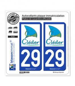 29 Cléder - Commune | Autocollant plaque immatriculation