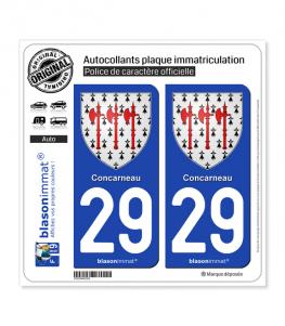 29 Concarneau - Armoiries | Autocollant plaque immatriculation