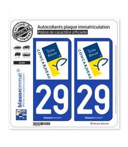29 Concarneau - Ville | Autocollant plaque immatriculation