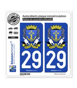 29 Douarnenez - Armoiries | Autocollant plaque immatriculation