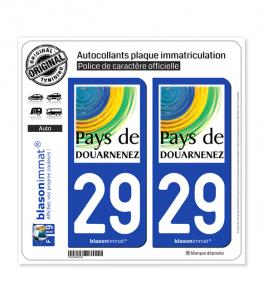 29 Douarnenez - Tourisme | Autocollant plaque immatriculation