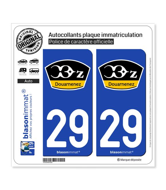 29 Douarnenez - Douarneniste | Autocollant plaque immatriculation