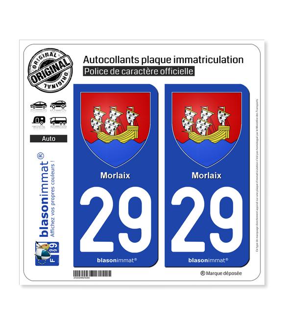 29 Morlaix - Armoiries | Autocollant plaque immatriculation