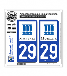 29 Morlaix - Ville | Autocollant plaque immatriculation