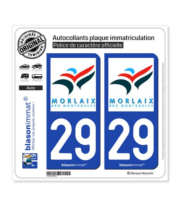 29 Morlaix - Agglo | Autocollant plaque immatriculation