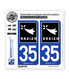 35 Breizh - Rannvro | Autocollant plaque immatriculation