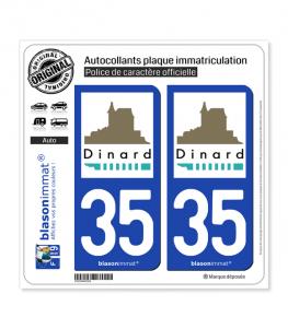 35 Dinard - Ville | Autocollant plaque immatriculation