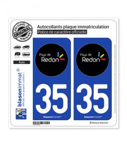 35 Redon - Tourisme | Autocollant plaque immatriculation