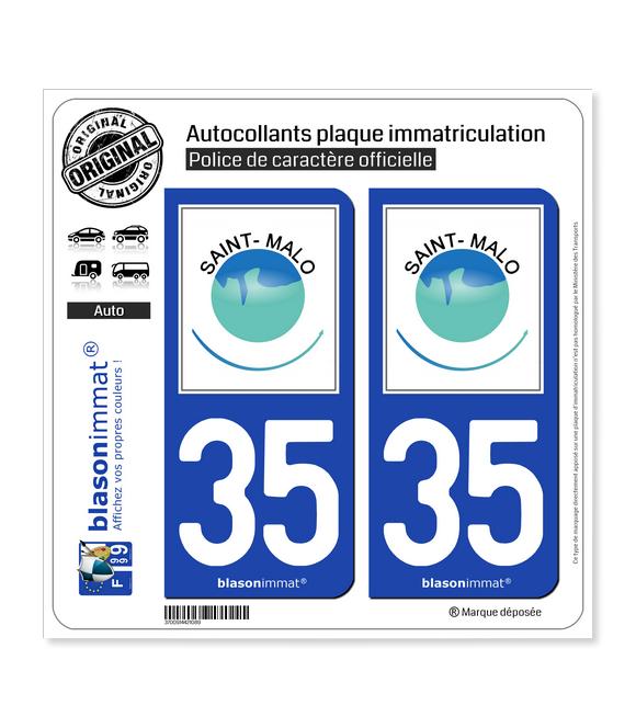 35 Saint-Malo - Agglo | Autocollant plaque immatriculation