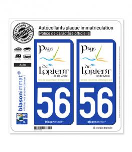 56 Lorient - Tourisme | Autocollant plaque immatriculation