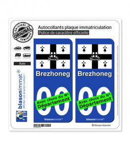 Brezhoneg - Drapeau | Autocollant plaque immatriculation