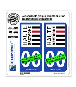 Haute-Bretagne | Autocollant plaque immatriculation