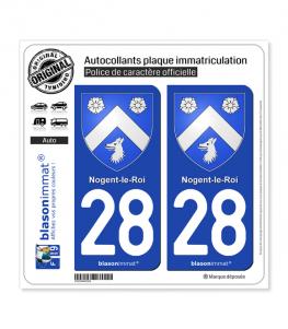 28 Nogent-le-Roi - Armoiries | Autocollant plaque immatriculation