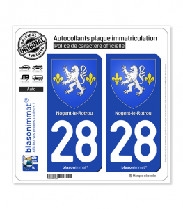 28 Nogent-le-Rotrou - Armoiries | Autocollant plaque immatriculation
