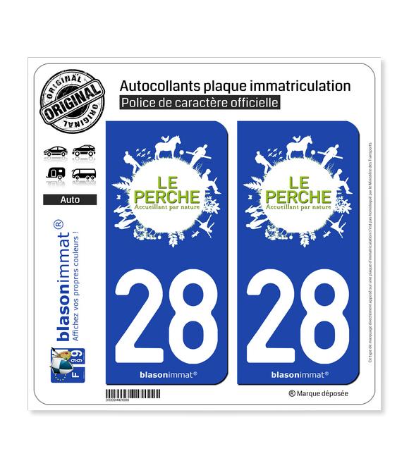 28 Perche - Pays | Autocollant plaque immatriculation