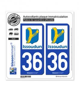 36 Issoudun - Ville | Autocollant plaque immatriculation