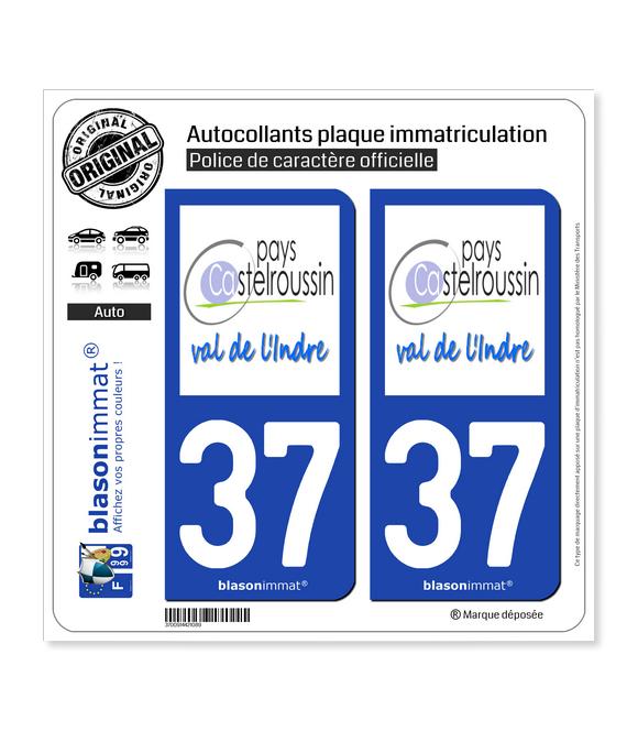 37 Castelroussin - Pays | Autocollant plaque immatriculation