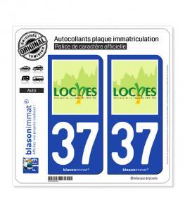 37 Loches - Ville | Autocollant plaque immatriculation