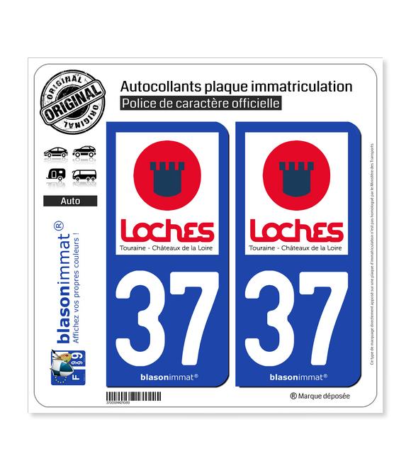 37 Loches - Tourisme | Autocollant plaque immatriculation