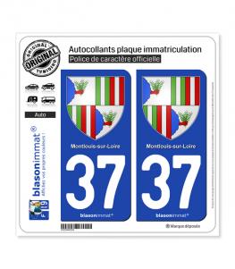 37 Montlouis-sur-Loire - Armoiries | Autocollant plaque immatriculation
