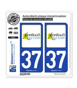 37 Montlouis-sur-Loire - Ville | Autocollant plaque immatriculation
