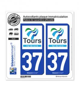 37 Tours - Agglo | Autocollant plaque immatriculation
