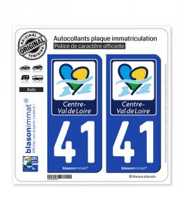 41 Centre-Val de Loire - Région | Autocollant plaque immatriculation