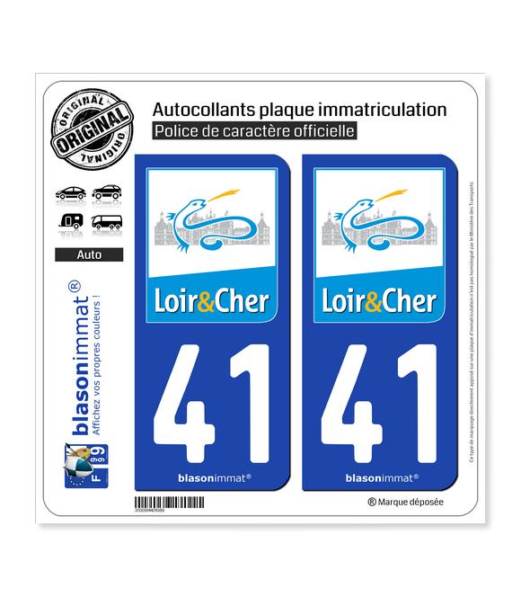 41 Loir-et-Cher - Département | Autocollant plaque immatriculation