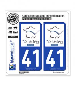 41 Loir-et-Cher - Tourisme | Autocollant plaque immatriculation