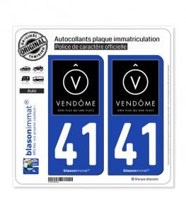 41 Vendôme - Ville | Autocollant plaque immatriculation