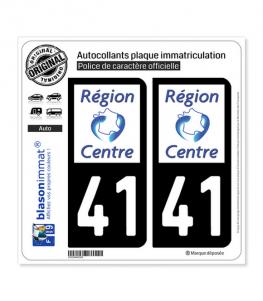 41 Centre-Val de Loire - LogoType | Autocollant plaque immatriculation