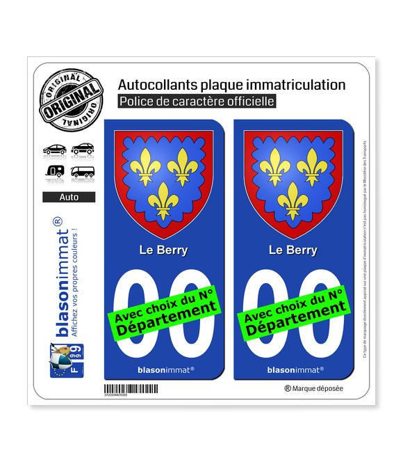Berry - Armoiries | Autocollant plaque immatriculation