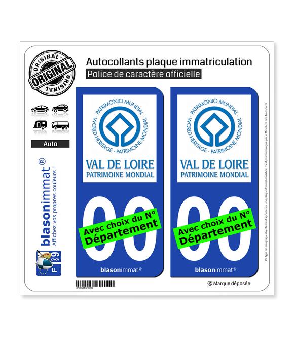 Val de Loire - Patrimoine | Autocollant plaque immatriculation
