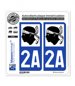 2A Corse - LogoType | Autocollant plaque immatriculation