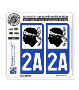 2A Corse - LogoType | Autocollant plaque immatriculation