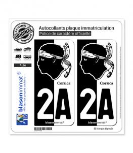 2A Corsica - Collector | Autocollant plaque immatriculation