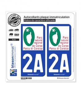 2A Corsica - Parc Naturel Régional | Autocollant plaque immatriculation