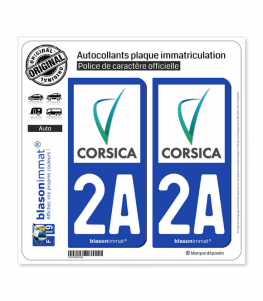 2A Corse - Collectivité Territoriale | Autocollant plaque immatriculation