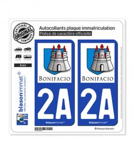 2A Bonifacio - Citadelle | Autocollant plaque immatriculation