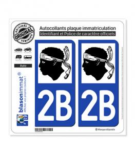 2B Corse - LogoType | Autocollant plaque immatriculation
