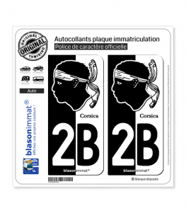 2B Corsica - Collector | Autocollant plaque immatriculation