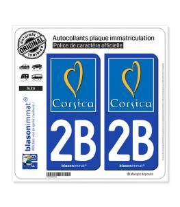 2B Corsica - Tourisme | Autocollant plaque immatriculation